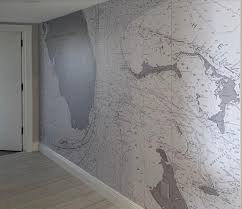 Nautical Chart Wall Mural A Case For Gray Nautical Chart Wallpaper Updates