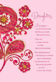 Mother Day Card Paisley Flowers Mothers Day Card For Daughter Greeting Cards