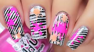Paint Splash | Nail Stamping Art Tutorial (Lina Nail Art Supplies ...