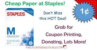 cheap paper staples ream after deal