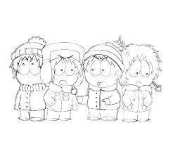 South Park Coloring Pages Related Post South Park Colouring Sheets