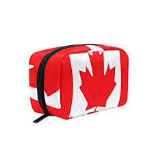 makeup bags canada map flag cosmetic pouch case travel organizer skincare zipper bag for womens s