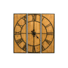 cape craftsmen iron and fir 3 piece hanging wall clock