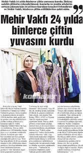 Mehir Vakfi - Vakfımız mağazalar müdürü Fatma Nur Aşcı...