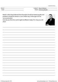 famous people printable resource worksheets for kids essay writing 2 martin luther king
