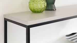 Contemporary Matt Grey and Black Console Table UK Delivery
