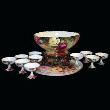 jeannette glass punch bowl set rose covered with multi colored full 1 0 german crystal punch bowl set glass