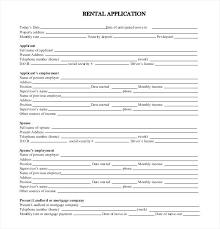 Free Downloadable Standard Rental Application Form Online