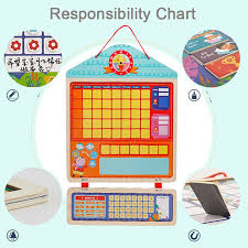 Wooden Magnetic Reward Activity Responsibility Chart Calendar Kids Schedule Educational Toys For Children Calendar Time Toys Best Offer 11 11