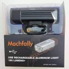 Phụ kiện xe đạp | Đèn Pha MACHFALLY sạc USB | Chất liệu Hợp kim nhôm 6061 |  bóng đèn LED 5W | Dung lượng pin 1200mAh