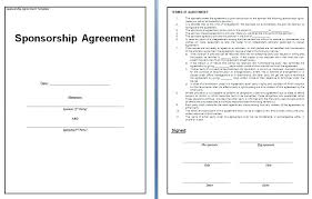 Sponsorship Contract Template Magnificent Large Size Of Template Sponsorship Contract Templates Finance How To