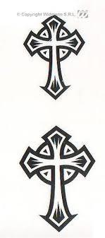 Tetování Nalepovací Kříže Bw
