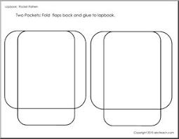 Pocket Template Lapbook Template Pockets 2 B W Abcteach
