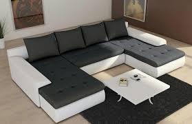 Canap D Angle Convertible Cuir Blanc Canap Du0027angle Design En