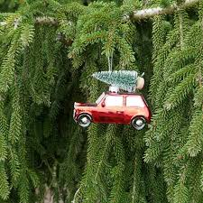 Christbaumkugel Auto Mini Cooper Rot