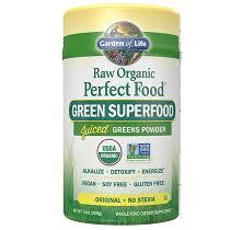Garden of Life <b>Raw Organic Perfect</b> Food Green Superfood Powder ...