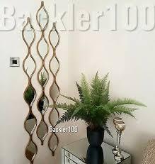 set of 3 long slim wall mirrors ripple