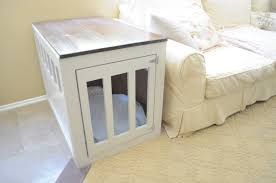End Table Dog Crate Furniture Also Indoor Dog Kennel Furniture