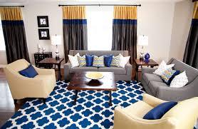 blue chevron area rug livingroom
