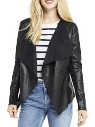 oasis faux leather waterfall jacket black fw63348