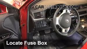 interior fuse box location 2011 2016 lexus ct200h 2011 lexus locate interior fuse box and remove cover