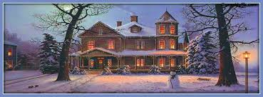 winter night snow scene facebook cover