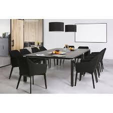 Design and modern Chair with armrests ANTONELA (black) fabric