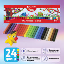 "<b>Пластилин</b> классический <b>BRAUBERG</b> ""МАГИЯ ЦВЕТА"", 24 цвета ..."