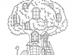 Small Picture Tree House Coloring Pages Coloring Page for Kids