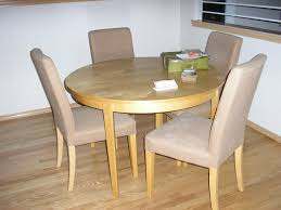 Light Wood Kitchen Table Round Light Wood Kitchen Dining Table And Upholstered Chairs With
