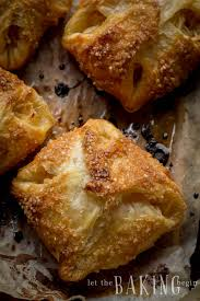 easy apple turnovers with puff pastry