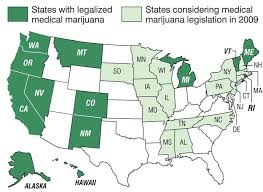 states where medical pot is legal map
