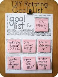 diy school supplies diy rotating goal list easy crafts and do it yourself ideas