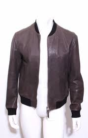 details about tom ford mens gray lambskin leather collarless er aviator jacket coat 42 52