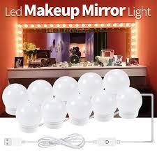 <b>CanLing</b> LED Makeup Mirror Wall Lamp Kit 2 6 10 14 Bulbs USB ...