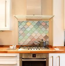 pastel tiles kitchen splashback