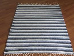 navy blue white 3 x 4 kitchen and bath rug