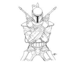 Star Wars Coloring Pages Boba Fett Printables Star Wars Drawings