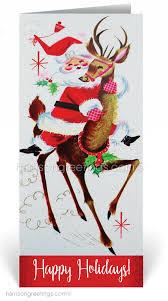 Retro Holidays 1950s Vintage Santa Holiday Christmas Card 36890 Harrison