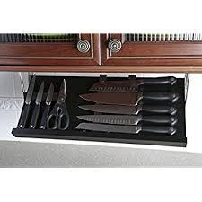 Under Cabinet Knife Block --Two Sizes Available (Large Black/Ebony)