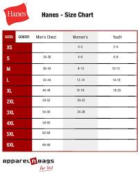 Hanes Nano Tee Size Chart Hanes T Shirt Size Chart Arts Arts