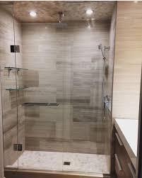 modern classy bathroom glass shelves
