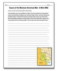 of the mexican american war a mini dbq students interpret and causes of the mexican american war a mini dbq students interpret and create