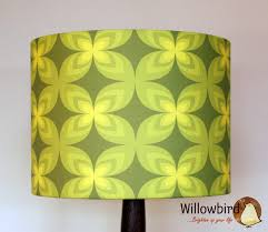 lamp shades design retro lamp shade with green flower colours decor and black bottom willow
