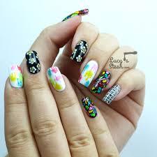 Wah Nail Designs Funky Mix Match Wah Style Nail Art Lucys Stash
