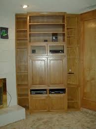 light wood cabinet entertainment center light40