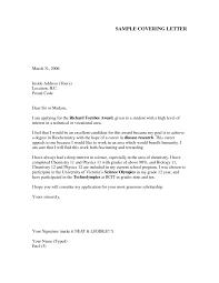 sample resume cover letter for appl cover letter sample application