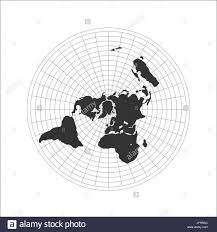 Flat Earth Map Black And White Stock Photos Images Alamy