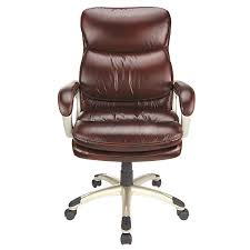 faux leather high back chairs. picture of realspace broward faux leather high-back chair, brown/silver high back chairs n