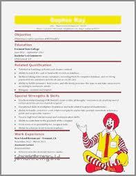Resume Samples Cashier In Restaurant Luxury Fast Food Sample Resume
